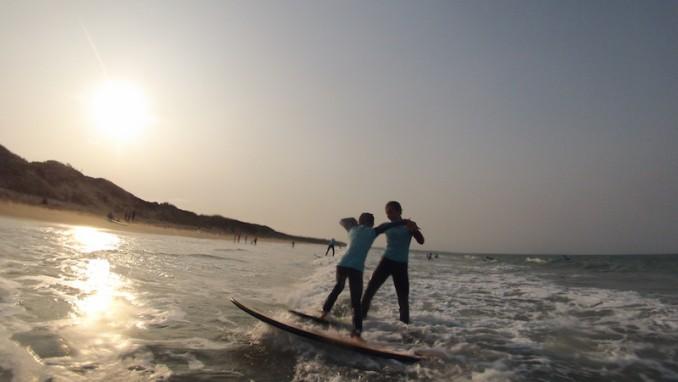 Les photos de vos stages de surf sont dans l'onglet galerie