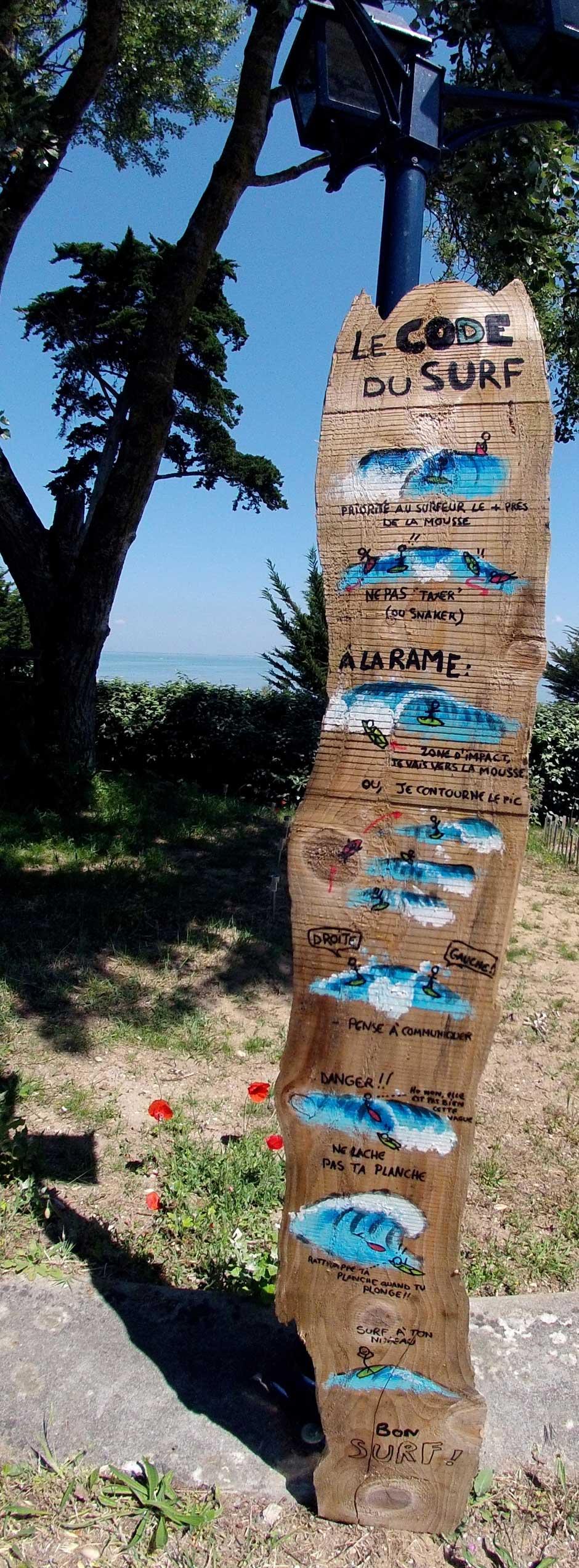 code du surf